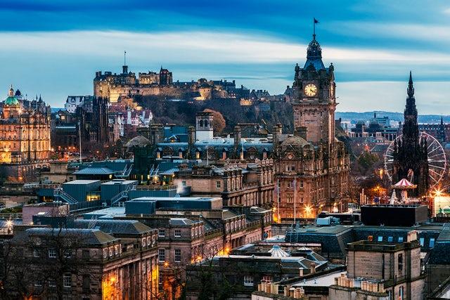 Arrive in Scotland