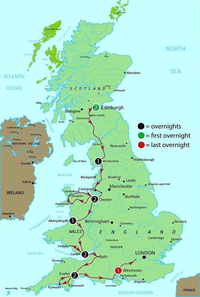 Great Britain Autumn Adventure Map