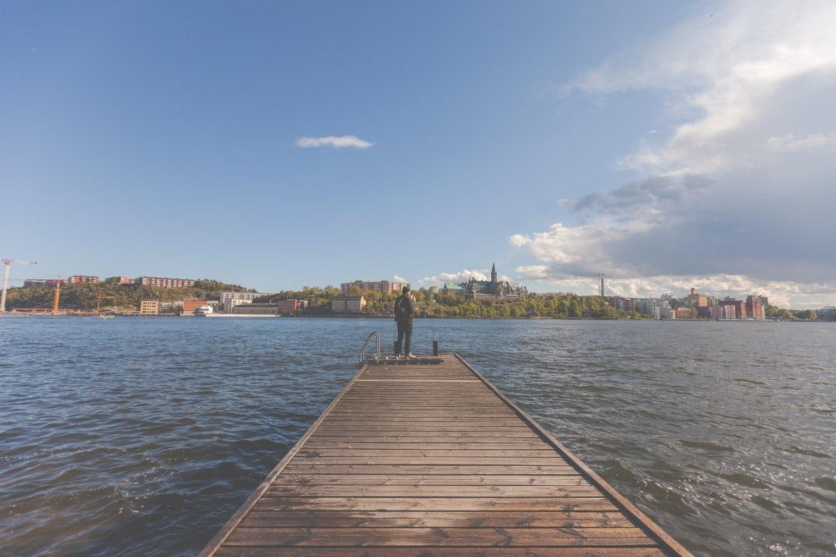 A sunny day of Strockholm, Swedish