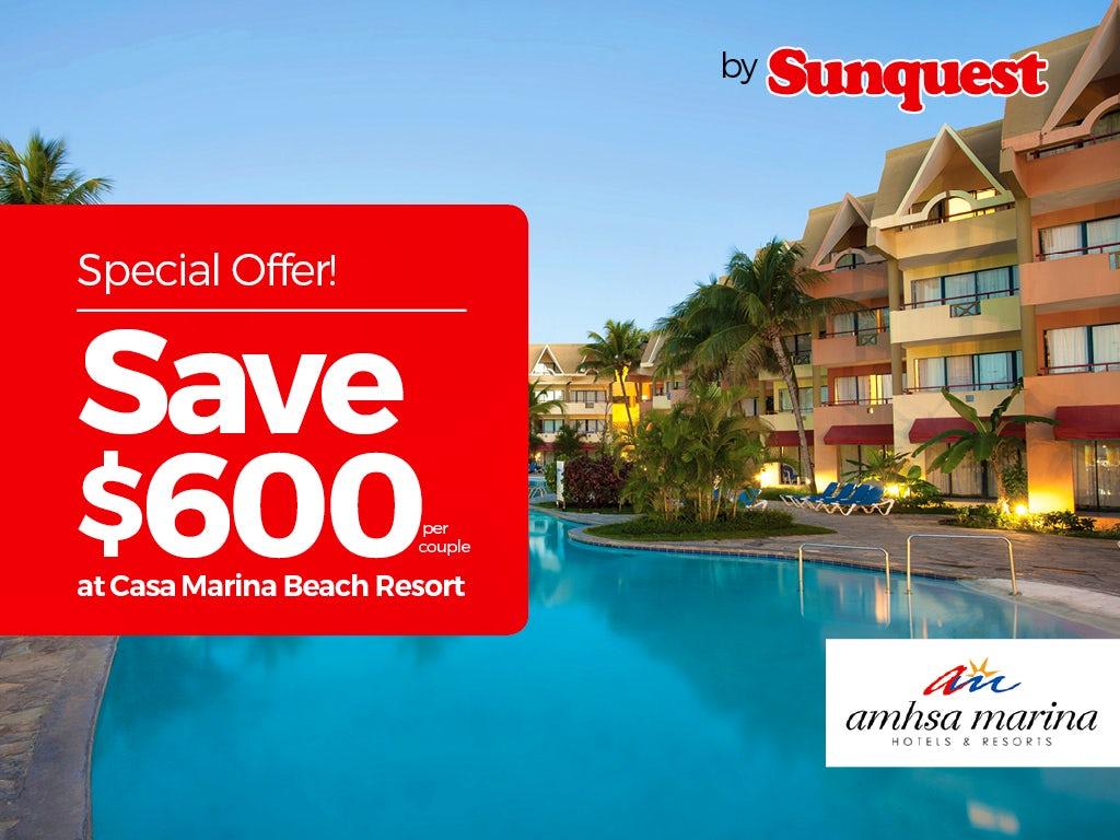 Sunquest - Save $600 per couple!