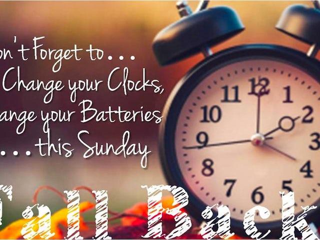 FALL BACK .. Daylight Savings Time