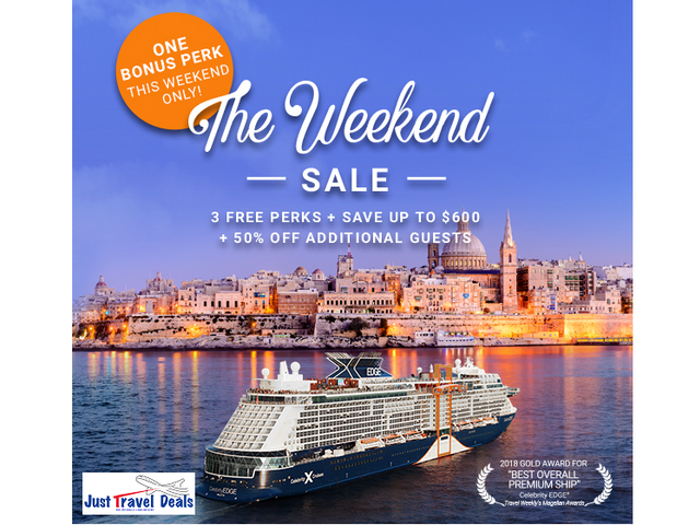 Celebrity Cruises Our richest offer all year—The Weekend Sale.