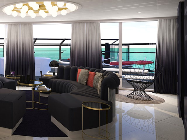 "Where can you find the ""Suitest"" suites on the sea?"