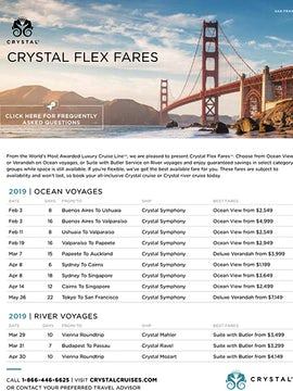 Crystal Cruises Flex Fares