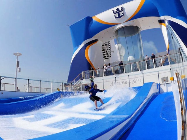 Surf's Up on Royal Caribbean's FlowRider