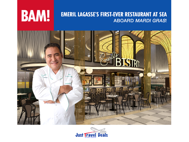 Emeril Lagasse's First-Ever Restaurant at Sea Aboard Mardi Gras!