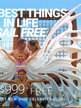 2 Free Perks PLUS Kids sail Free on Celebrity Cruises
