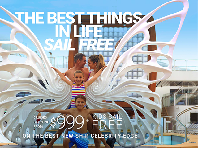 2 Free Perks PLUS Kids sail Free on Celebrity Cruises