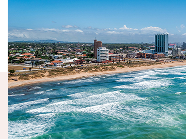 Port Elizabeth Situated on 16km of white-beach coastline in Algoa Bay,