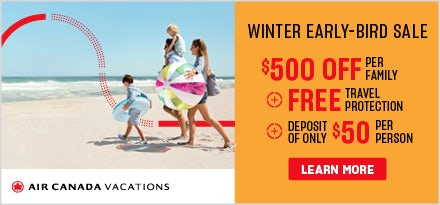 Air Canada Vacations June 2019