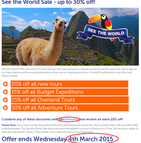 See the World Sale - Up to 30% off if booked before March 4th!