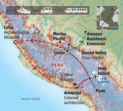 Map of Inca Trail