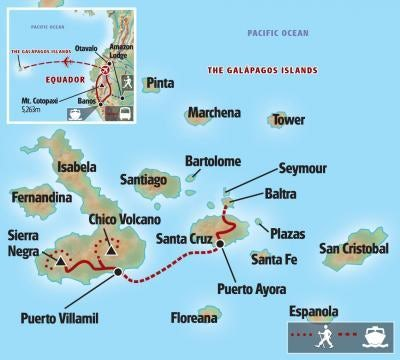 Galapagos & Amazon map