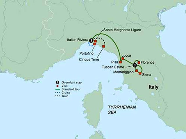 Tuscany The Italian Riviera