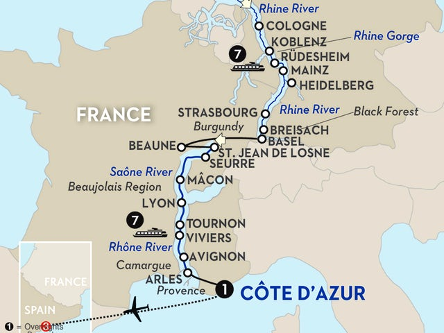 Rhine & Rhône Revealed with Barcelona – Southbound