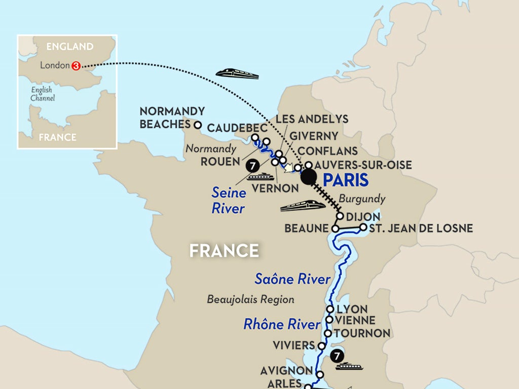 Map Of France Giverny.Grand France With London Northbound