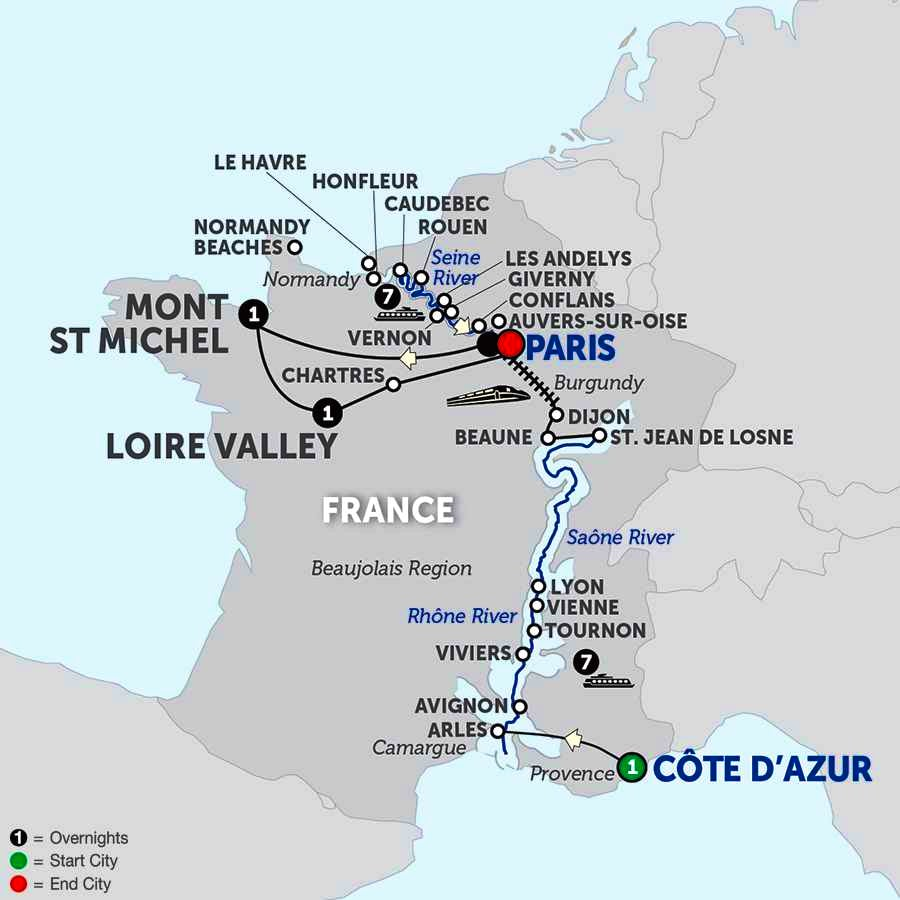 Grand France With Mont St Michel Loire Valley With Journeys Club