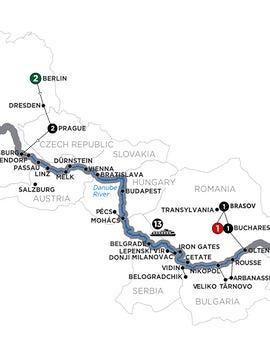 Grand Danube Cruise with 2 Nights Berlin & 2 Nights Transylvania