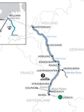 Festive Season on the Romantic Rhine with 2 Nights Paris & 2 Nights London