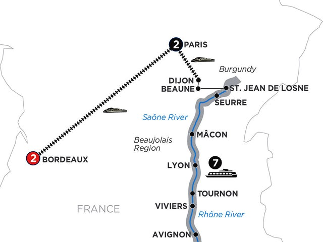 Burgundy & Provence with 2 Nights Bordeaux for Wine Lovers – Northbound