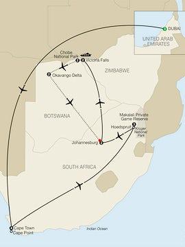 Splendors of South Africa & Victoria Falls with Dubai & Botswana