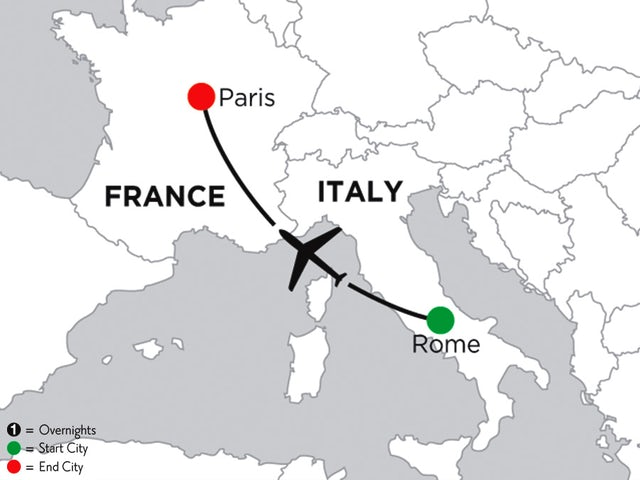 2 Nights Rome & 3 Nights Paris